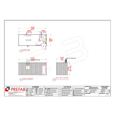 20' CONTAINERIZED 1 ROOM TOILET UNIT