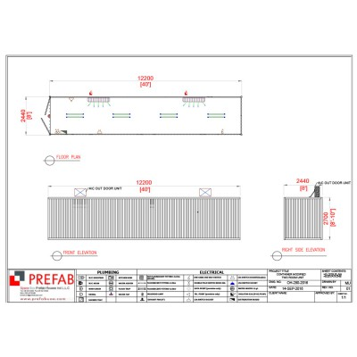 40' CONTAINER OPEN HALL OPEN HALL 12200 x 2440