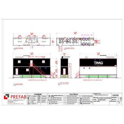 CONTAINRIZED DOUBLE STORY UNIT 12.2X2.4 FLOOR PLAN